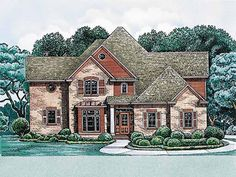 New American House Plan with 2830 Square Feet and 4 Bedrooms(s) from Dream Home Source | House Plan Code DHSW13752