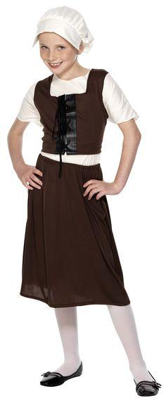 Wonderful Fancy Dress   Tudor Girl Costume   Assorted Sizes, Historical Tudor Costumes,  Fancy Costumes