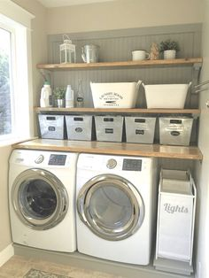 45 Inspiring small laundry room design and decoration ideas . Inspiring little laundry room design and decoration ideas decoration Inspiring small laundry room design and decoration id Room Makeover, Room Design, Laundry Mud Room, Room Organization, Room Diy, Room Remodeling, Laundry Room Organization Storage, Basement Laundry