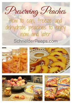 Preserving peaches is an annual event here. We preserve them by canning, freezing and dehydrating so we can have a variety throughout the year. Learn how you can freeze, dehydrate and can peaches in this article.