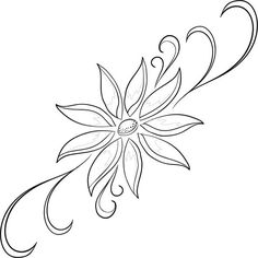 This Pin was discovered by Bed Embroidery Flowers Pattern, Hand Embroidery Designs, Embroidery Stitches, Beadwork Designs, Pattern Images, Stencil Designs, Machine Quilting, Flower Art, Sketches
