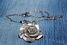 Short+silver+statement+necklace+w/a+silver+by+AbstractionsbyCC,+$18.00