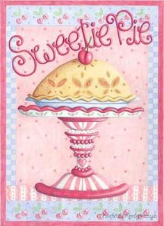 Love you sweetie pie💕💜💕 Cupcake Torte, Paper Art, Paper Crafts, Posters Vintage, Country Paintings, Kitchen Art, Recipe Cards, Vintage Cards, Pretty Pictures