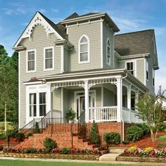 Gothic Revival-style home, restored and resided in fiber cement. | thisoldhouse.com