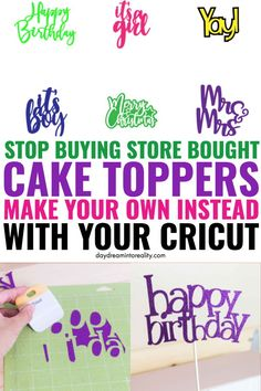 Today you are going to learn how to make the most gorgeous cake Cricut Cake, Cricut Air 2, Cricut Vinyl, Good Tutorials, Cricut Tutorials, Diy Cake Topper, Cake Toppers, Make Birthday Invitations, How To Make Cupcakes