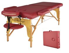 BestMassage Two Fold Burgundy Portable Massage Table ** Awesome product. Click the image : face SkinCare
