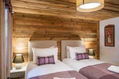 Photograph gallery of the luxury ski chalet, La Grange au Merle, by Clarian Chalets. Includes views over the charming ski resort village of Chatel. Alpine Chalet, Ski Chalet, Alpine Style, Underfloor Heating, Old Wood, Wood Paneling, Skiing, Relax, Indoor