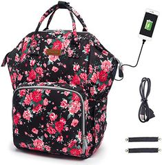 Waterproof and Stylish HOPOPOWER Multifunction Travel Backpack with USB Charging Port Insulated Pockets Maternity Baby Nappy Bag for Dad/&Mom Diaper Bag Backpack