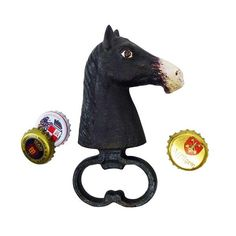 Design Toscano Horse Head Cast Iron Bottle Opener Set of 2 846092068135 Open Set, Electric Wine Opener, Greyhound Art, Elephant Sculpture, Wall Mounted Bottle Opener, Gifts For Horse Lovers, Bottle Stoppers, Bottle Openers, Horse Head