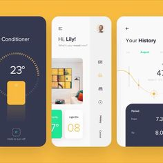A list of top User Inteface (UI) and User Experience (UX) Design Works for Inspiration . Mobile app interfaces and Web design works. Ios App Design, Mobile Ui Design, Design Android, User Interface Design, Web And App Design, Identity Design, Font Design, Design Food, Design Typography