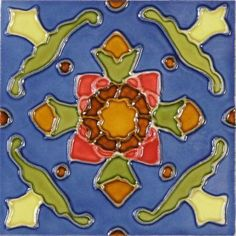 "Hand Painted Decorative Tiles Fascinating Mission 6"" X 6"" Handpainted Ceramic Decorative Tile In Tulips Decorating Inspiration"