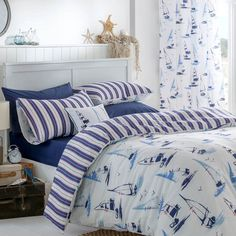 Catherine Lansfield Padstow Nautical Duvet Set