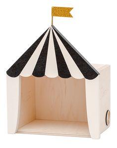 Zirkus-Regal MANEGE FREI MINI (18x15x9) in schwarz/weiß von Up! Warsaw ✔ Kurze Lieferzeit ✔ Jetzt bei tausendkind kaufen!