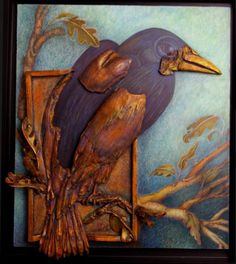Crows Ravens:  Pictures of Ceramic Reliefs | #Raven Reveal.