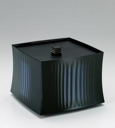 彫漆蒟醤蓋物「律」 Masadou Fujita