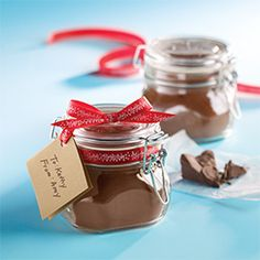 Homemade Chocolate Chunk Hot Cocoa Mix: real chocolate chunks in this mix will make your drink extra decadent. (see recipe)