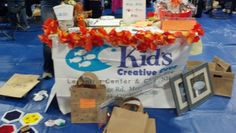 Business expo, making halloween bags