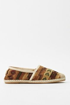 Espadrille Aztec Shoes - CAMEL - £5 - on Everything5pounds.com