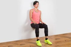 Bodyweight Exercise: Wall Sit #exercise #fitness http://greatist.com/fitness/50-bodyweight-exercises-you-can-do-anywhere