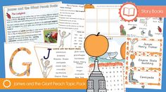 James and the Giant Peach Topic Pack Our brand NEW project designed to give you everything you need to teach your topics and themes including games and activities, teaching aids and display resources. The James and the Giant Peach Topic Pack is part of our Story Books packs collection and contains the following resources. James and the Giant Peach ... - www.tpet.co.uk - Classroom Resources by Teacher's Pet Story Retell, Story Sequencing, Comprehension Ks2, The Giant Peach, Teacher's Pet, Information Poster, Script Writing, Simple Sentences, Writing Challenge