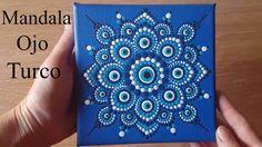 Como pintar mandalas con acrílicos #10 - Ojo turco - Turkish eye