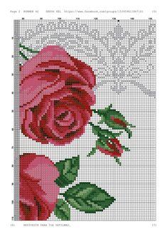 Cross Stitch Borders, Cross Stitch Rose, Cross Stitch Flowers, Cross Stitch Charts, Cross Stitch Patterns, Waterfall Jacket, Cross Stitch Landscape, Blackwork, Needlepoint