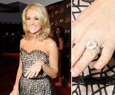 Mike Fisher popped the question to Carrie Underwood in December 2009 with a custom Johnathon Arndt design.