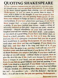 """Quote Shakespeare"" poster.  I've seen this poster for real, I just wish I could get my hands on my own copy."