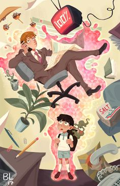 ❀ Feeling Just Peachy Today ❀ : Photo: Mob Psycho 100 Tokyo Ghoul, Mob Physco 100, Mob Psycho 100 Anime, Demon Slayer, Animes Wallpapers, Tag Art, Cute Art, Art Reference, Kageyama