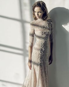Intricately detailed with pearl embellishments and a hint of Victorian charm, this gown from Ersa Atelier's new collection is perfect for a bride looking for something modern that still maintains an antique touch.   WedLuxe Magazine   #wedding #luxury #weddinginspiration #luxurywedding #bridal #fashion #weddingdress #weddinggown
