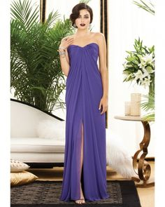 Like the long flowing dress with the slit even tho I am leaning more towards short dresses. However would be nice for the Maid of Honor