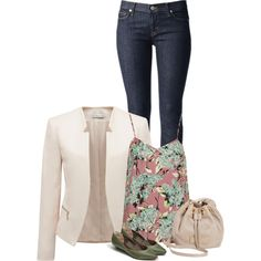 """Dressy Casual - Floral Style"" by pikabu44 on Polyvore"