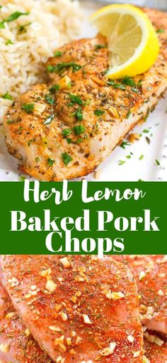 It doesn't get any easier than these Herb Lemon Baked Pork Chops! Tender and absolutely delicious, serve these up with rice and veggies, or on a salad! 271 calories and 4 Weight Watchers Freestyle SP | In the Oven | Easy | Boneless | Recipes | Healthy #cookincanuck #weightwatchers #healthyrecipes #healthyporkchops