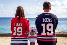 It looks like we will be expecting a new #Blackhawks fan in August! Congrats!
