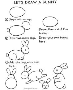 how to draw a baby rabbit