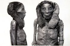 The mummy of the Dame Rai, thought to perhaps be the mother-in-law of Sethi I (19th dynasty) at Cairo Museum, Egypt.