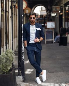 Ideas Hair Styles Men Formal Street Styles For 2019 hair is part of Mens fashion suits casual - Formal Men Outfit, Men Formal, Mens Fashion Suits, Fashion Outfits, Mens Casual Suits, Blazer Outfits Men, Designer Suits For Men, Herren Outfit, Mens Clothing Styles
