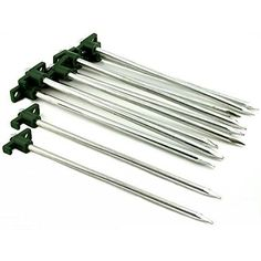 HTS 12 Camping Tent Spikes Lawn Gardening Tree Stake 12 Tent Stakes Great For Camping, Fishing & Hiking This is a new set of 12 tent stakes Great for camping, fishing, hiking, etc Each measures approximately 10 x x 8 mm). Hiking Tent, Camping And Hiking, Tent Camping, Camping Gear, Tree Stakes, Tent Accessories, Fish Camp, Shelter, Lawn