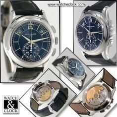 Patek Philippe Complications Platinum Ref.5905P-001 Carica manuale, cassa in platino, Ø42mm. Cinturino in pelle di coccodrillo, Con scatola e documenti. Gar.2015 #patek #watcheclock #watch&clock #watches #orologio #milano