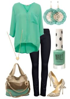 Mint & Gold outfit