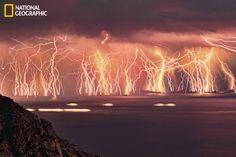 70 lightning shots on Ikaria island, Greece during thunderstorm on June 16 taken during 83 minutes.