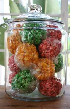 Popcorn balls are one of my Mom's traditions. We do vanilla and cinnamon, green and red balls. I need to get that recipe ASAP.