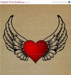 lfying hearts decor valentines tattoos - Google Search