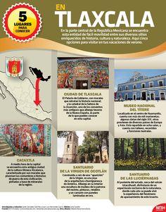 Ante la cercanía de las vacaciones, te presentamos cinco grandes opciones para visitar en el estado de Tlaxcala. Conócelas en la #InfografíaNTX.