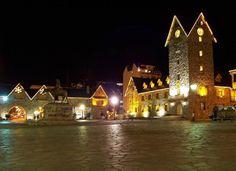 San Carlos de Bariloche, Argentina at night.