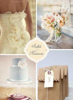 Pancho, Ivory, and Twilight Blue Wedding Inspiration   WeddingWire: The Blog
