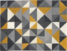 Henrik Hand Tufted Wool Rug 120 x 180cm, Mustard and Grey from Made.com. Yellow/Grey. Henrik. A rug that's as much a piece of art as a floor-coverin..