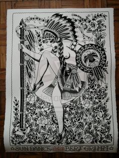 Sun Dance made by Bert Grimm by *donchuckcarvalho on deviantART Bert Grimm, Sun Dance, Back Piece Tattoo, Tattoo Vintage, Traditional Tattoo Flash, Vintage Flash, Back Pieces, Native Indian, Tattoo Inspiration