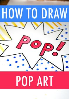 "Want to draw like Andy Warhol and Roy Lichtenstein? These tutorials guide you through how to draw pop art several ways so your art will POP off the page. art drawings Steal Some Pop Art Ideas to Make Your Drawings Go ""POP! Roy Lichtenstein Pop Art, Andy Warhol Pop Art, Andy Warhol Soup Cans, The Velvet Underground, Pop Art For Kids, Pop Art Drawing, Art Drawings, Art Rubric, Painting Lessons"