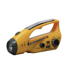 Bear Motion Self-Powered Dynamo AM/FM Radio with Flashlight, Solar Power and Cell Phone Charger - Yellow * Check this awesome product by going to the link at the image. Solar Panel Cost, Best Solar Panels, Solar Charger, Phone Charger, Phone Cases, Hand Crank Radio, Emergency Radio, Emergency Preparedness, Noaa Weather Radio